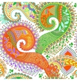 Paisley seamless pattern floral wallpaper vector image