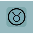 Pale blue Taurus sign vector image vector image