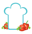 peppers cap vector image vector image
