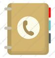 phonebookvsupload vector image
