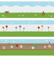 Picket fence banners vector | Price: 1 Credit (USD $1)