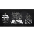 Pizza symbol icons chalk on the blackboard vector image vector image