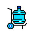 plastic water bottle delivery color icon vector image vector image