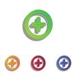 Positive symbol plus sign Colorfull applique vector image