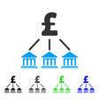 pound bank organization flat icon vector image vector image