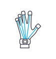 prosthetics technology linear icon concept vector image vector image