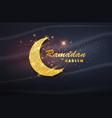 ramadan kareem poster with muslim crescent vector image vector image