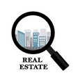 real estate and rental of buildings vector image vector image
