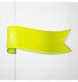 Realistic shiny yellow ribbon isolated on white vector image vector image