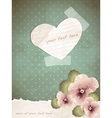 Romantic vintage with a paper heart