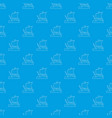 sailing ship pattern seamless blue vector image