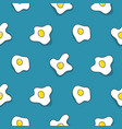 seamless egg pattern scrambled eggs vector image vector image