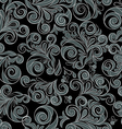 seamless floral swirls vector image vector image