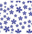 seamless simple pattern background with flowers vector image vector image