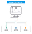 secure protection safe system data business flow vector image