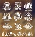 set barbecue labels badges and design elements vector image
