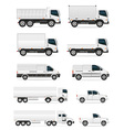 set of icons cars and truck for transportation of vector image vector image