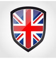 Shield with flag inside - United Kingdom - UK vector image vector image