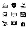 Shop icon set vector image vector image