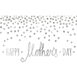 Silver textured Happy mothers day inscription vector image
