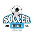 soccer club logo template isolated white vector image vector image