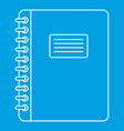 spiral notepad icon outline vector image vector image