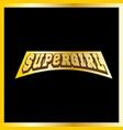 super mom hero power full typography vector image