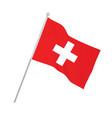 switzerland national flag vector image