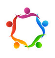 teamwork people helping one another icon vector image vector image