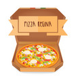the real pizza regina pizza queen italian pizza vector image vector image