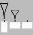 Three white lanyard with grey holder vector image vector image