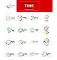 time clock icon concept mega collection vector image