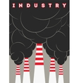 Typographical industry poster with smokestacks vector image