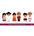 venezuela chile colombia men and women in vector image vector image