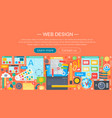 web design flat concept programming apps vector image vector image