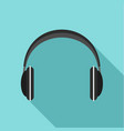 wireless headphones icon flat style vector image