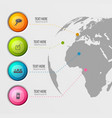 world wide pictograms background vector image