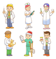 Doctor and Medical person cartoon set vector image