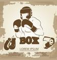 vintage sport poster design - grunge box banner vector image