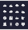 Download on different devices and upload in cloud vector image