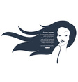 Profile of young beautiful woman with hair bun vector image