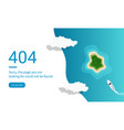 404 error web pages design with island and ocean vector image vector image