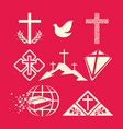 a big set of christian symbols vector image vector image