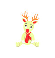 a deer of christmas icon holiday day vector image vector image