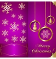 Abstart pink Christmas Invitation Card with vector image vector image