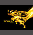 abstract flaming runner vector image vector image