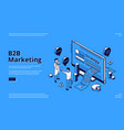 b2b marketing strategy isometric landing page vector image