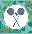 badminton sport equipment vector image