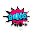 bang comic text white background vector image vector image