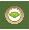 baseball game field vector image vector image